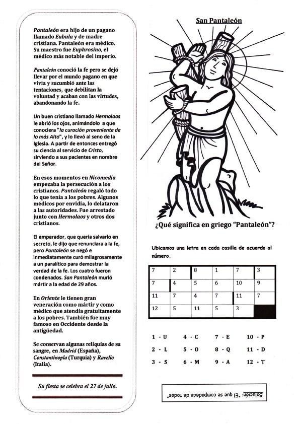 San Pantaleon San Pantaleón 27 de Julio