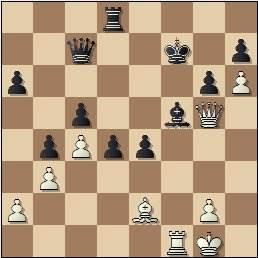 Partida de ajedrez Jamieson vs. González Mestres en 1965, posición después de 38...Af5??