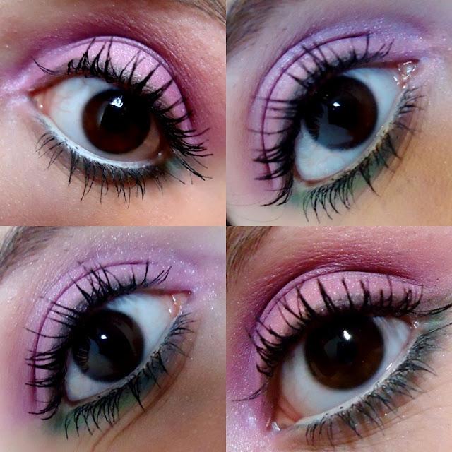 make lilás com verde