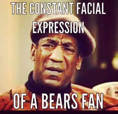 the constant facial expression of a bears fan