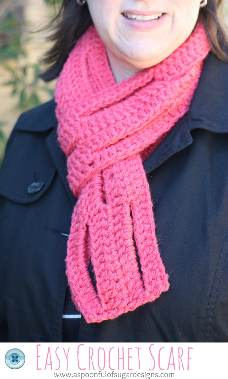 Crochet Pattern For Scarf Easy : Easy Crochet Scarf {free pattern} - A Spoonful of Sugar