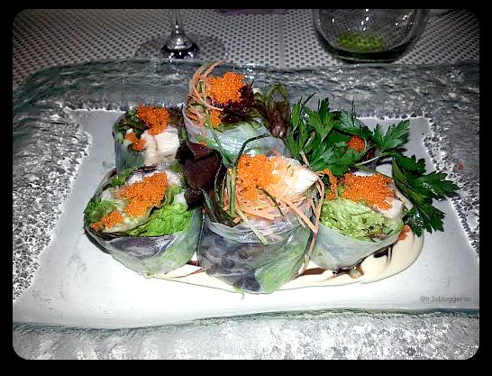 rollitos de papel de arroz con pollo marinado - tastem restaurante japonés