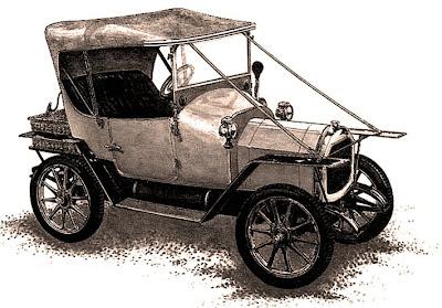 coche antiguo para scrapbooking