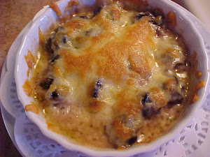 Ramequins d&#39;escargots  l&#39;ail gratins au mozzarella