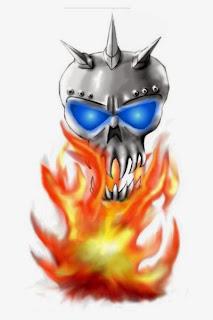 iron skull drawing at zazzle