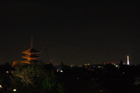 清水寺と京都タワー