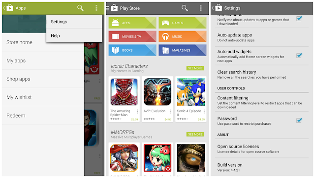 Google Play Store 4.4.21 look