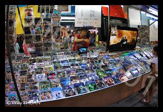 DVD copies at phuket weekend market