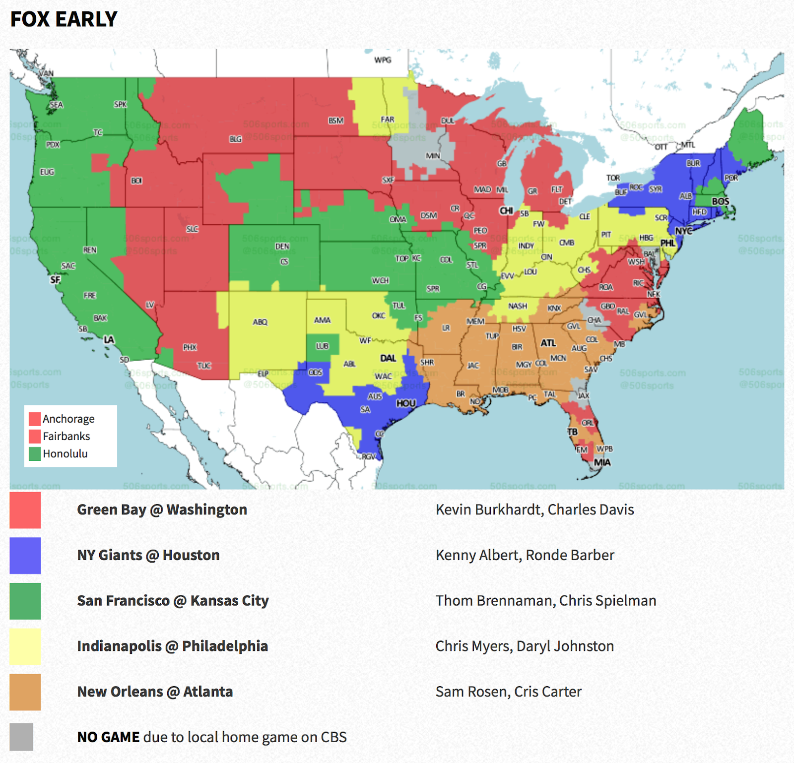 the week 3 nfl tv maps are out for this weekend s football broadcasts above the areas shown in red will see the packers vs washington at noon ct