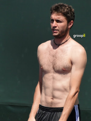 Gilles Simon Shirtless at Miami Open 2011