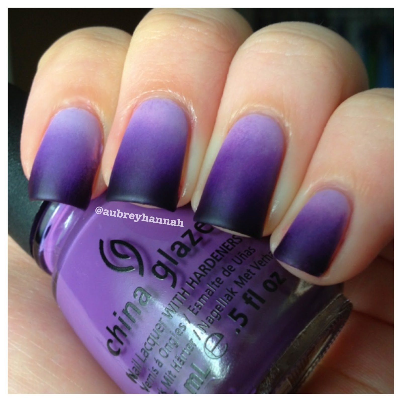 Aubrey Hannah: Purple Ombre Nails (Tutorial)