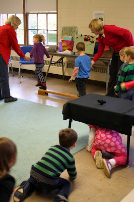 "Gross Motor Skills Developed during an Obstacle Course in ECE by Miss Carole at ""PreK+K Sharing"""