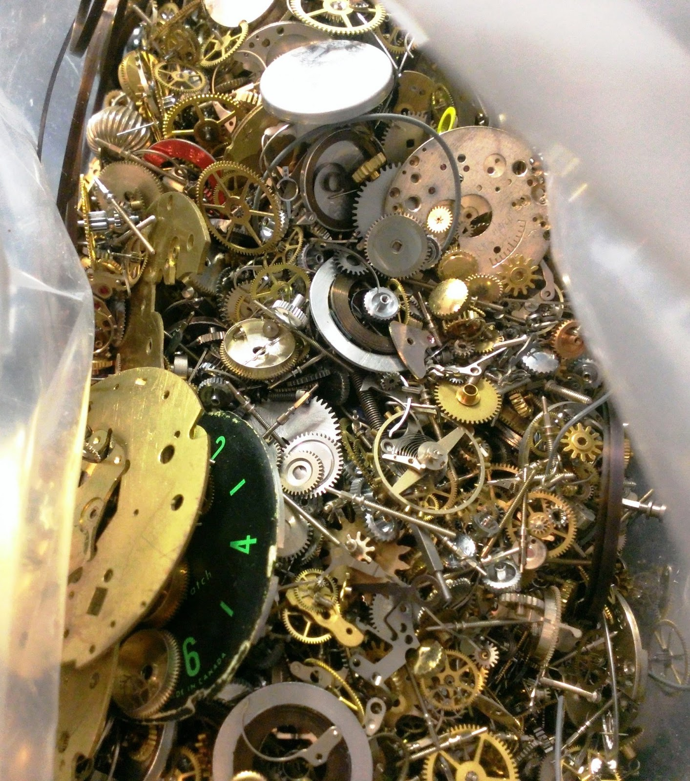 Watch wrist parts - The Bag Weighted 3 Kilograms And Was The Densest Most Assorted Jumble Of Watch Parts I Ve Ever Seen Every Conceivable Part For Wrist And Pocket Watches