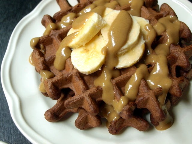 : Chocolate Waffles Two Ways: Buckwheat w/ Maple Nut Butter Syrup ...