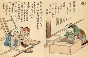 江戸職人/紙 – 紙漉き | フリー素材配布サイト-和風素材.com