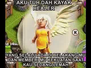 DP BBM Meme COC Healer