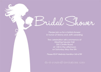Bridal Shower Invitations Microsoft Word Bridal Shower Invitation