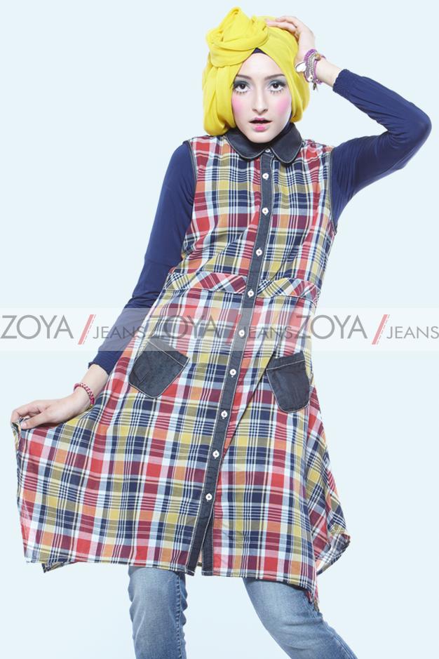 Baju Pesta Zoya Busana Muslim Tante Model Gothic