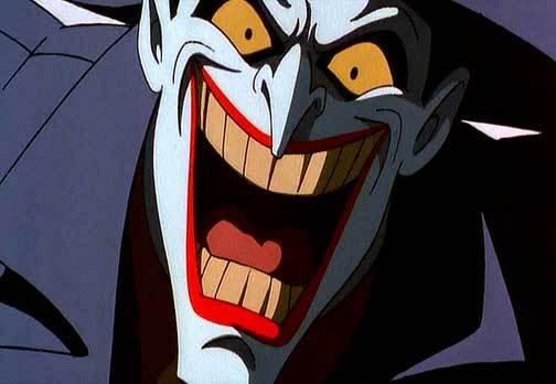The Joker grinning in Batman: Mask of the Phantasm 1993 animatedfilmreviews.blogspot.com