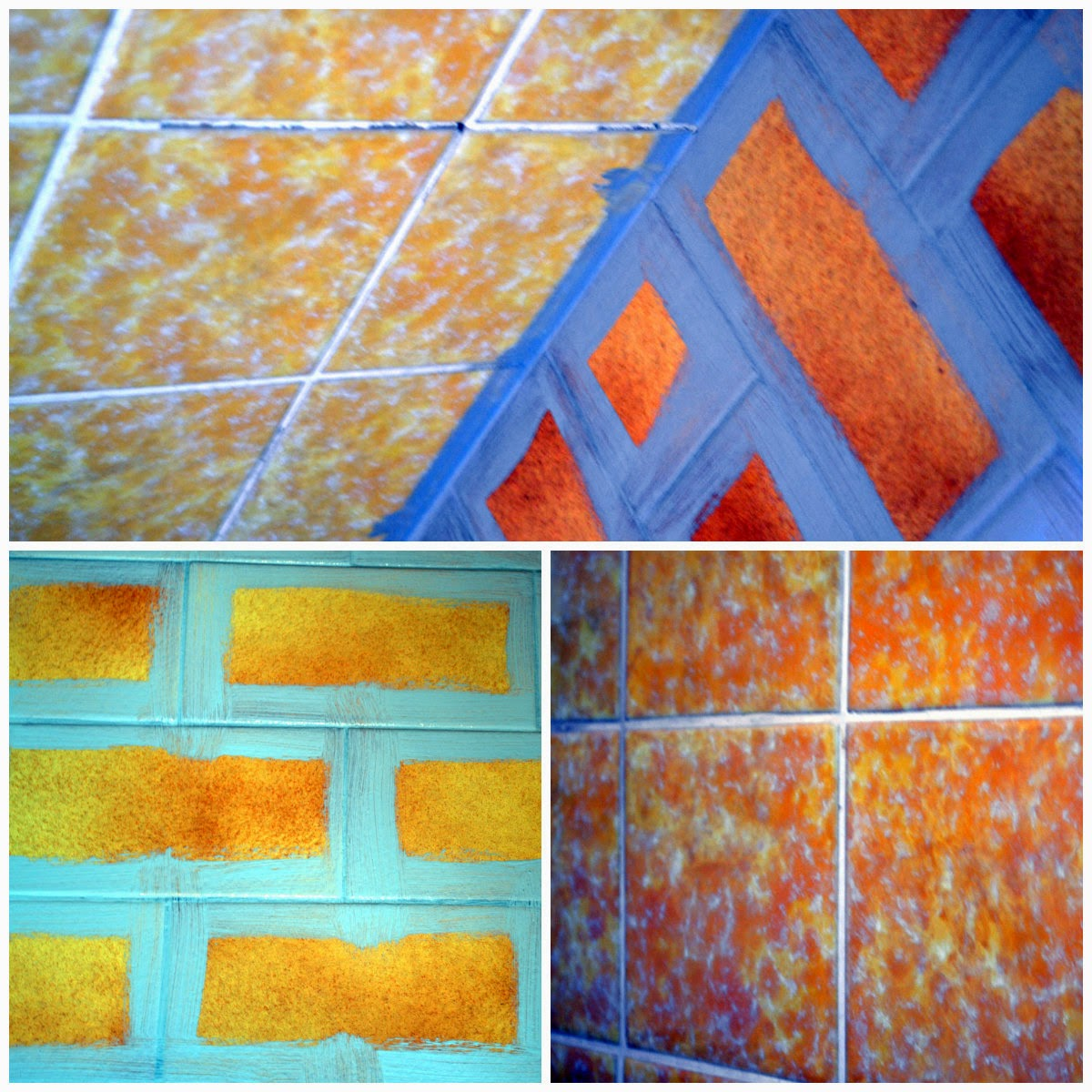 Painting tiles in