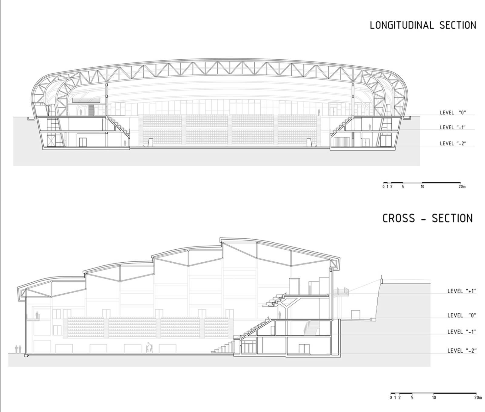 Sports hall zatika for Drawing hall design