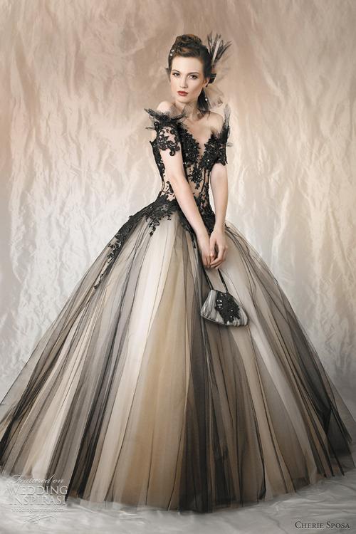 Fotos de vestidos de noivas preto