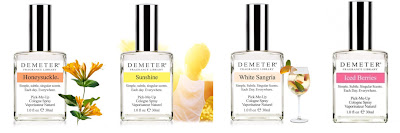 Demeter Fragrance Library, Demeter Fragrance Library Pick-Me-Up Cologne Spray, Demeter Fragrance Library Honeysuckle, Demeter Fragrance Library White Sangria, Demeter Fragrance Library Sunshine, Demeter Fragrance Library Iced Berries, perfume, cologne, fragrance, giveaway, beauty giveaway, A Month of Beautiful Giveaways