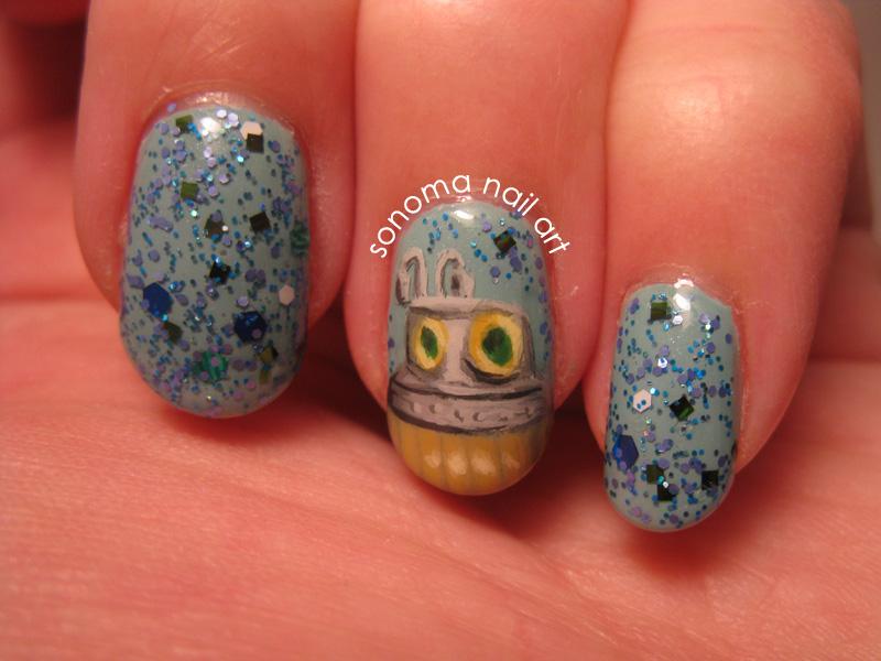 Sonoma Nail Art: Turtle Submarine