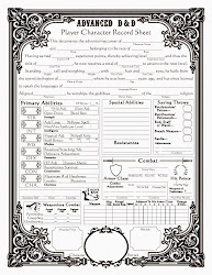 Baroque AD&D Character Sheet (front)