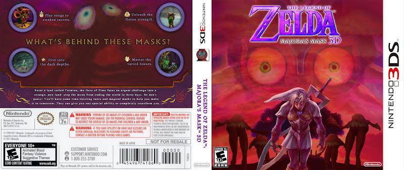 Capa The Legend Of Zelda Majoras Mask 3D 3DS