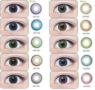 contoh contact lens, contact lens