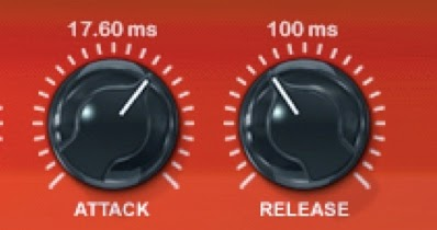 Compressor attack and release controls image