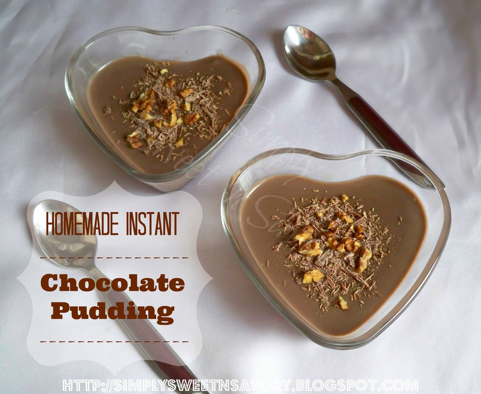 homemade instant chocolate pudding