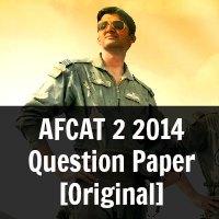 AFCAT 2 2014 Question Paper [Original]