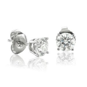 A pair of diamond stud