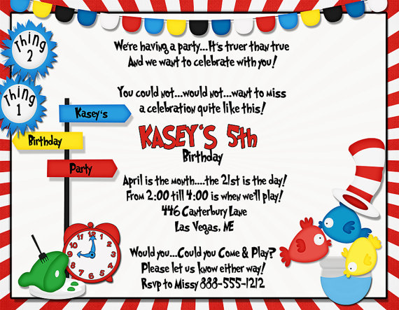 Kids Theme Party S Time To Rhyme Birthday Invitations