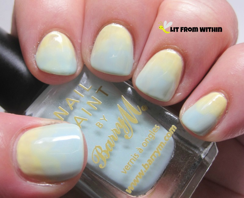 sponge gradient with Barry M Blue Moon, a soft pale blue, with a slight shimmer