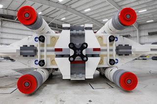 Star Wars - X-Wing de Lego 1:1 Vista trasera