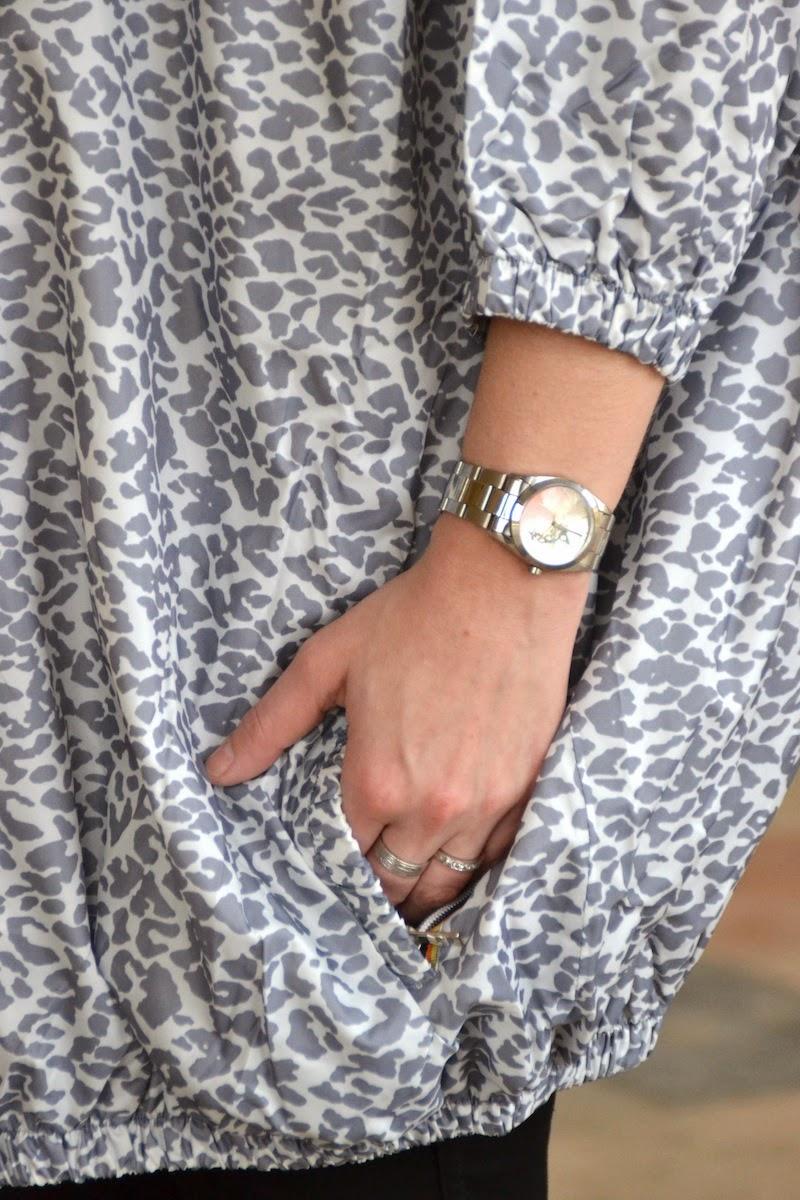 MABELLE MAJE X K-WAY gris léopard