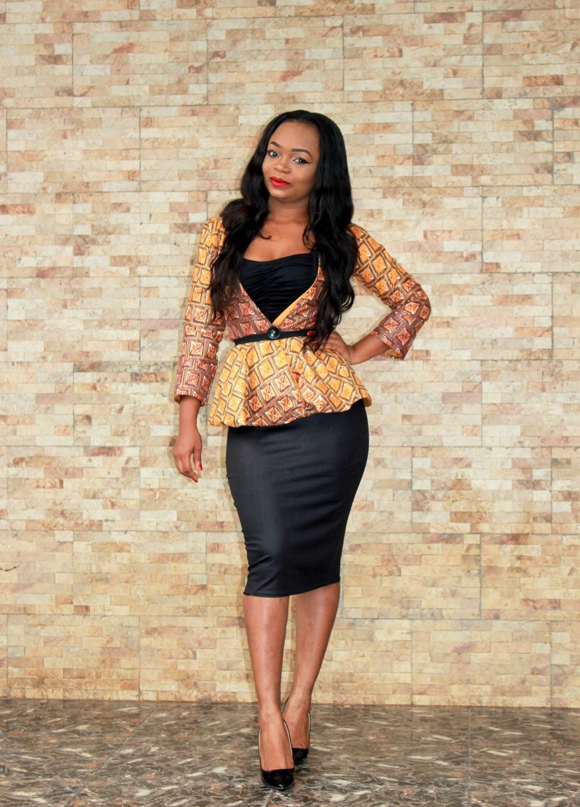 African Prints = Blazer + Pencil skirt