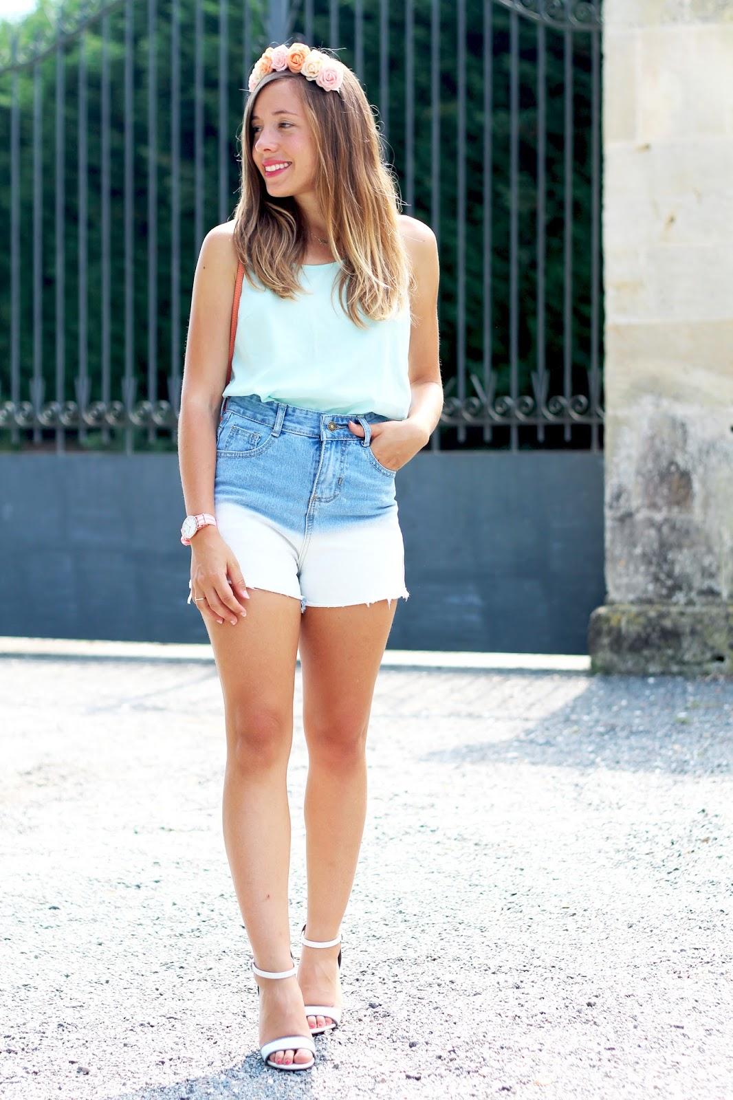 Blogueuse mode tenue été tendance couleurs pastel