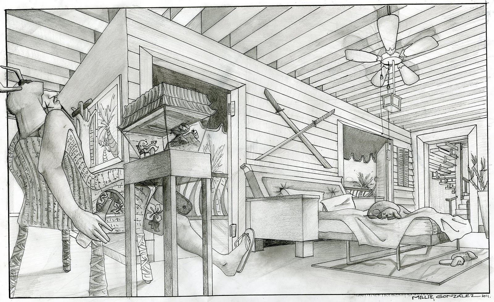 A Two Point Inventive Interior. A Samurai Exile Living In A Caribbean  Island; Just Because I Miss My Home. This Actually Got Submitted To A  Class Contest My ...