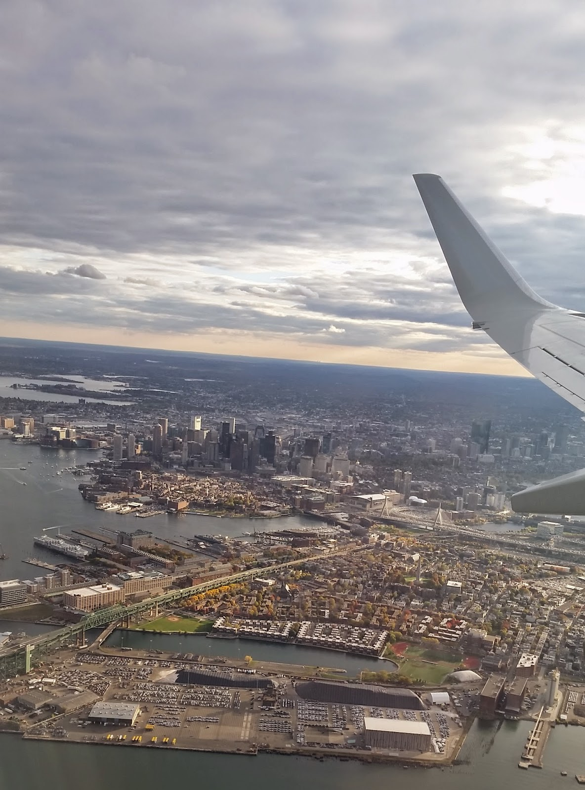 Boston skyline from above