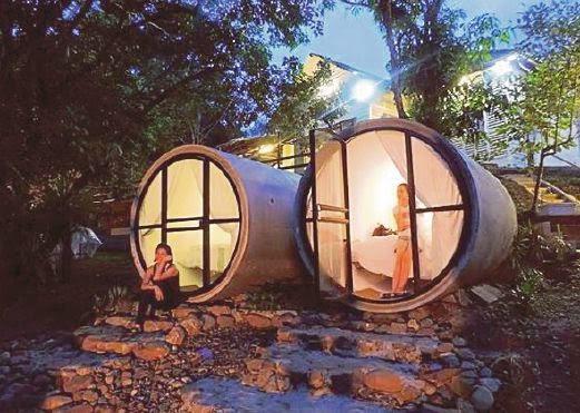 Live In Concrete Tubes At Sungai Lembing Kuantan