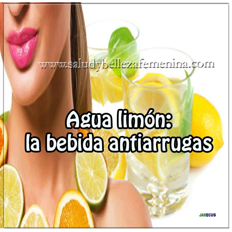 Agua de limón : La bebida antiarrugas