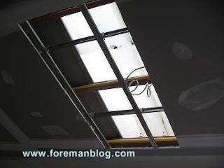 ช่องแสงฝ้าเพดานห้องครัว