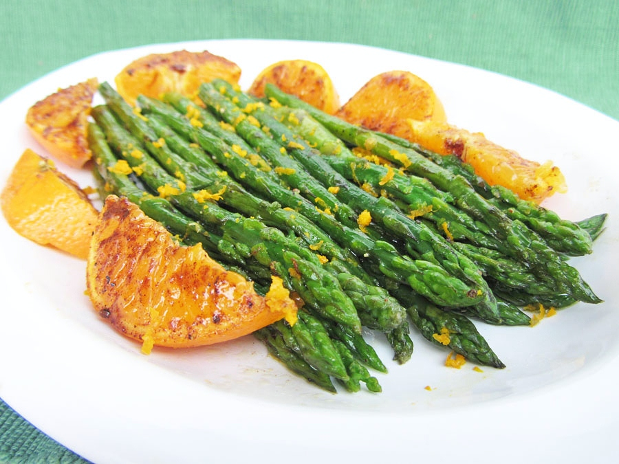 orange asparagus