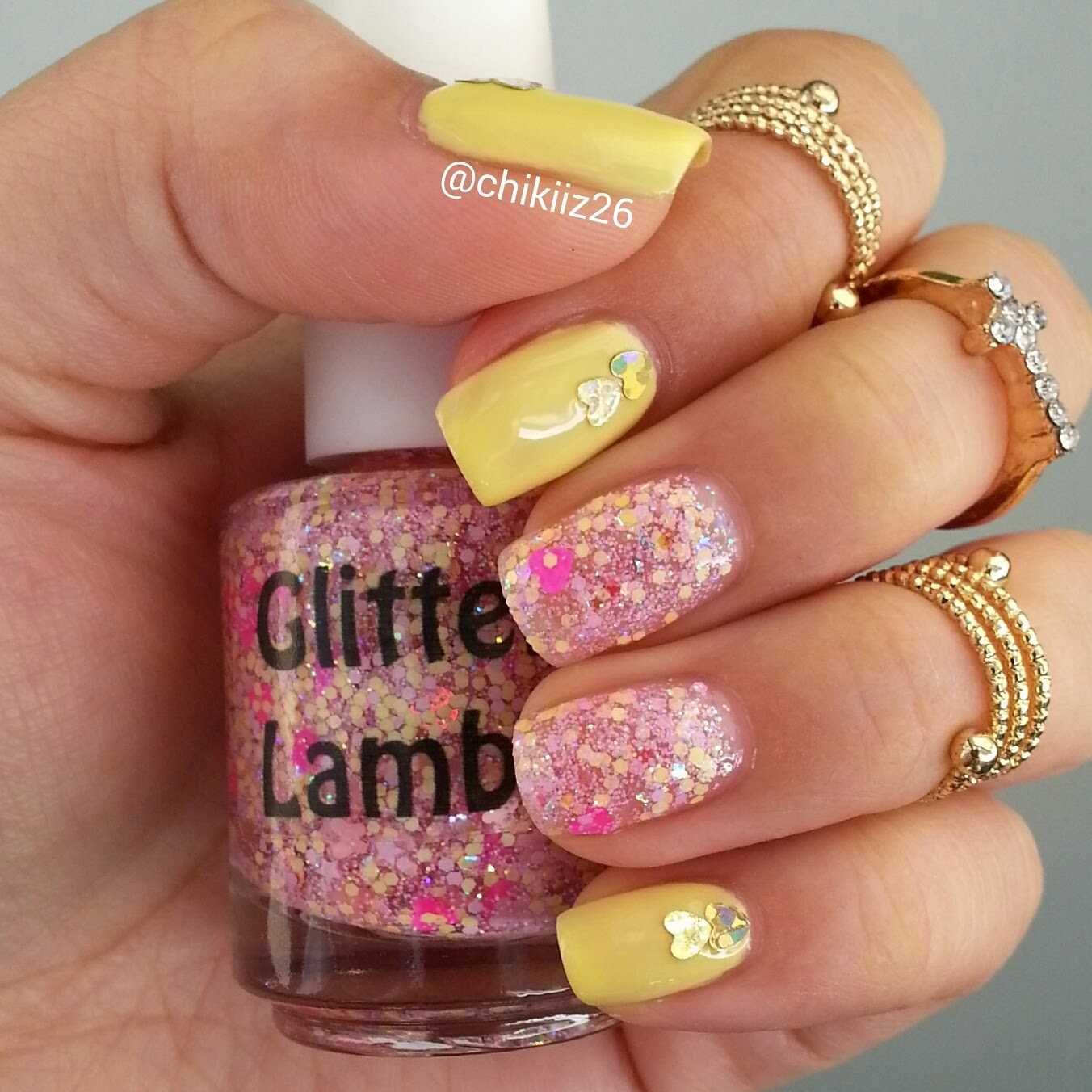 Pretty Please With Sugar On Top? Glitter Lambs Nail Polish Worn by @Chikiiz26