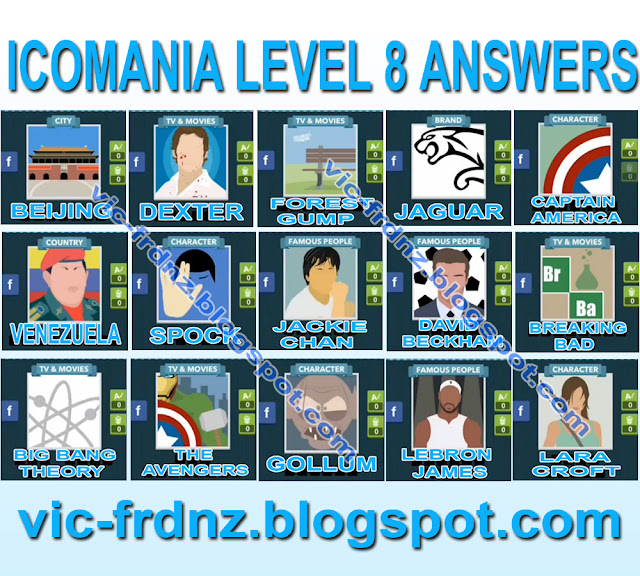 Icomania Answers Level 4