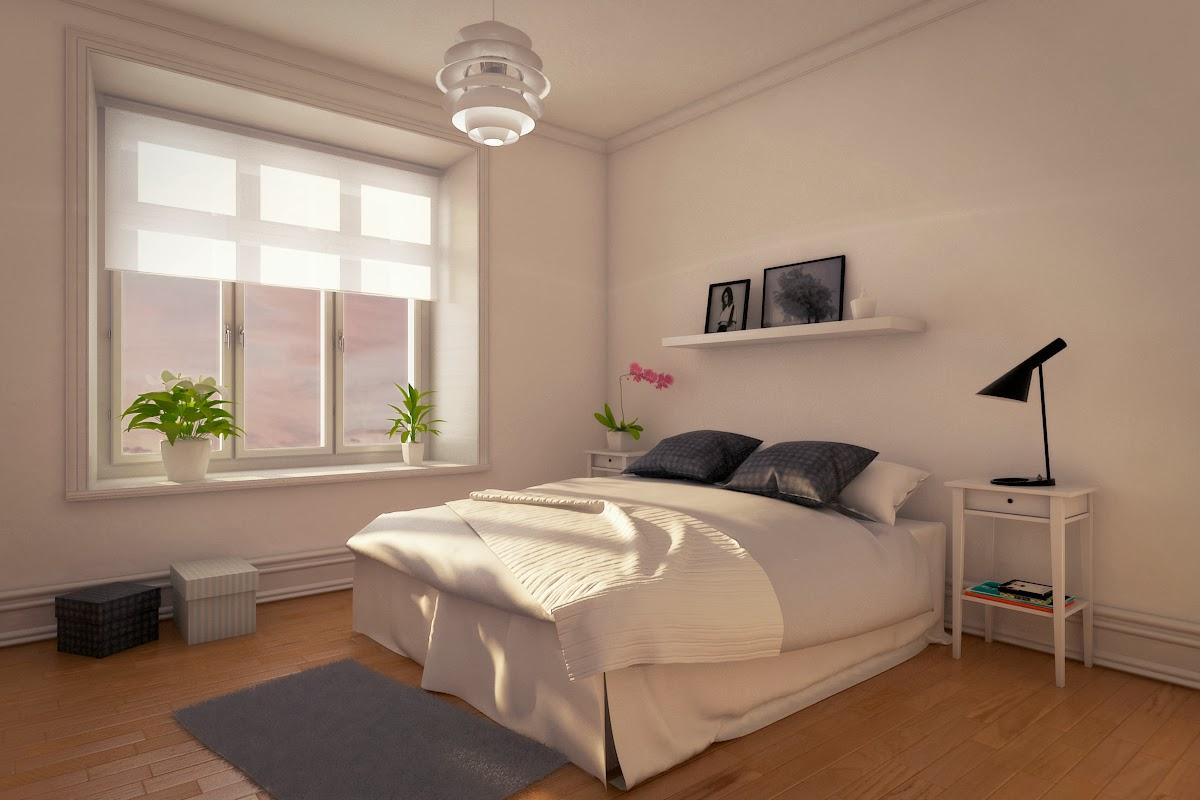 Infoarquitectura y dise o 3d escena interior 3d dormitorio - Iluminacion de dormitorios ...